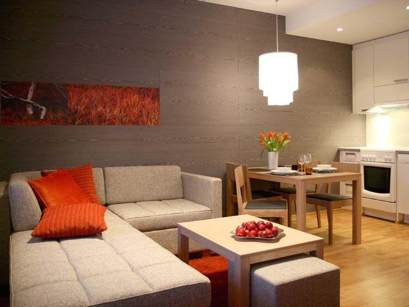 Дизайн гостиной спальни и кухни в одной комнате